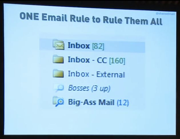 The One Email Rule