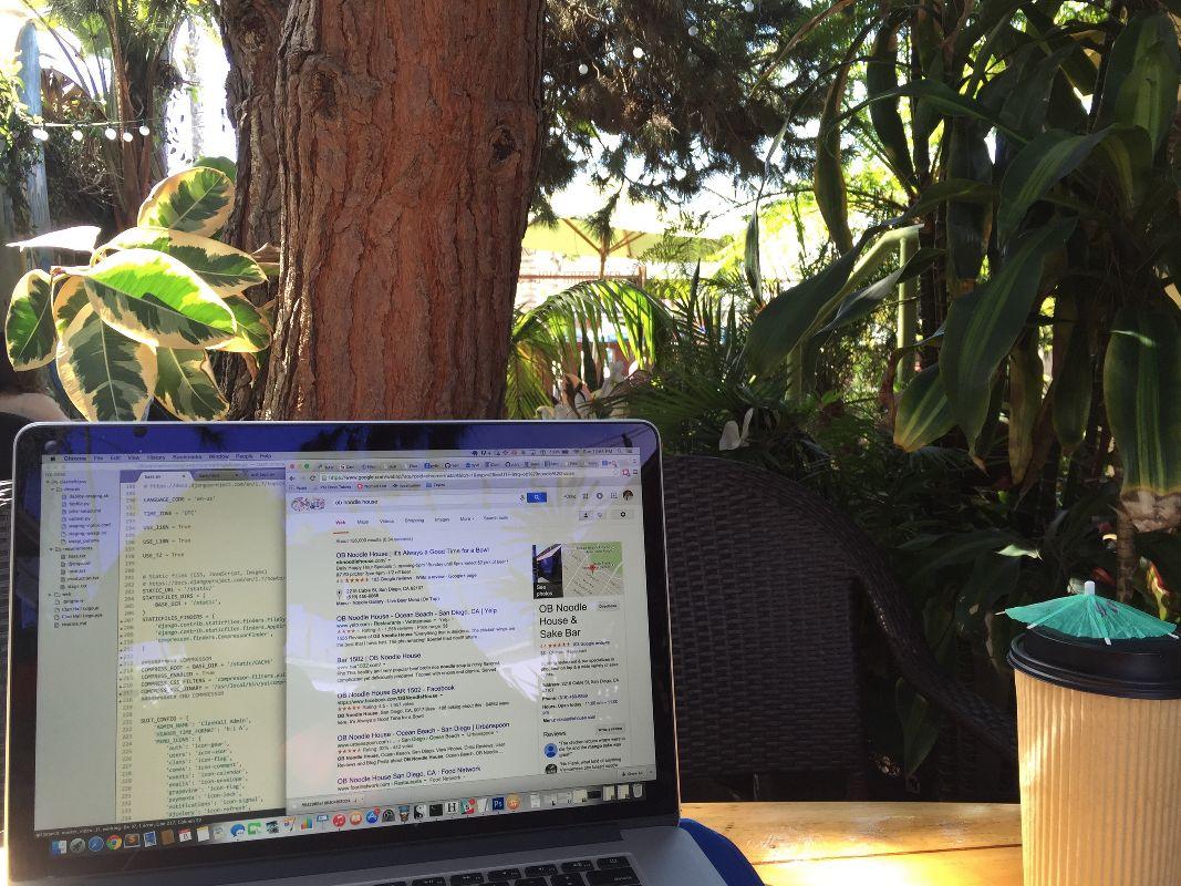 outdoor workspace
