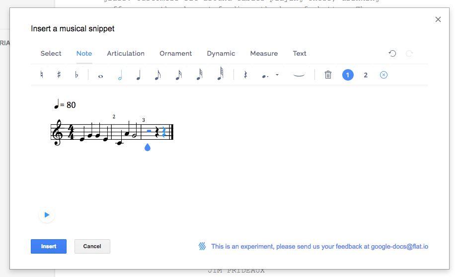 Flat Music Notation