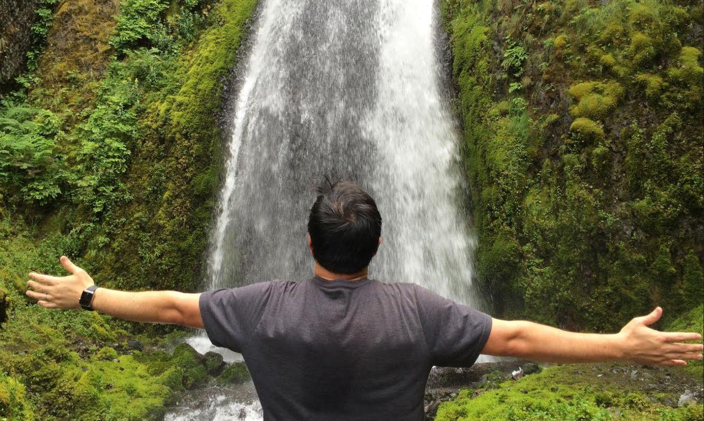Hoon at the waterfalls