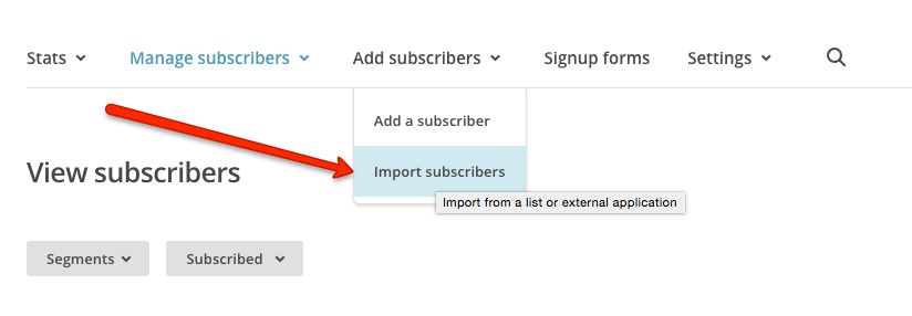 MailChimp import from CSV
