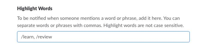 Slack Highlight Words