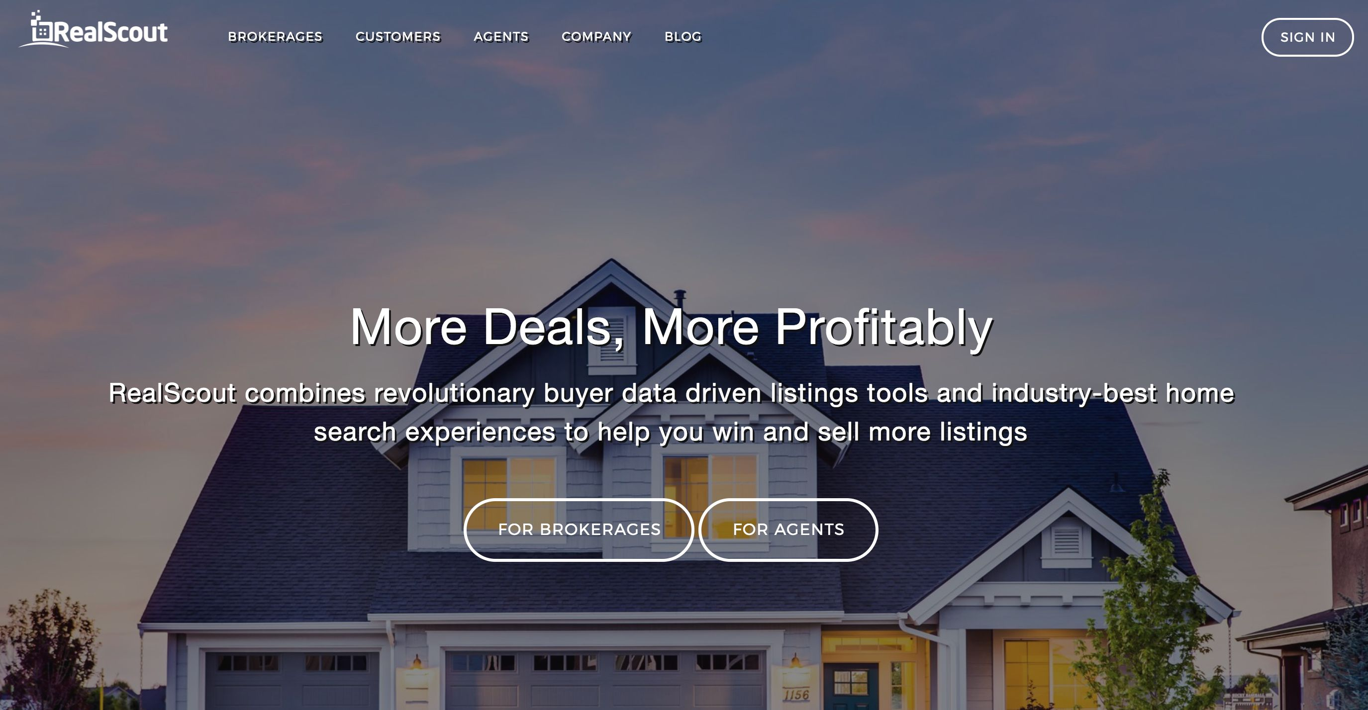 RealScout home page
