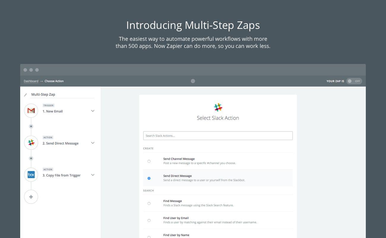 Multi-Step Zaps
