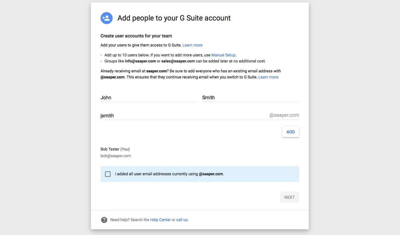 How To Set Up G Suite For Your Domain The Ultimate Guide See Attached Picture It Has Several Switches You May Have One Of Add Users Can
