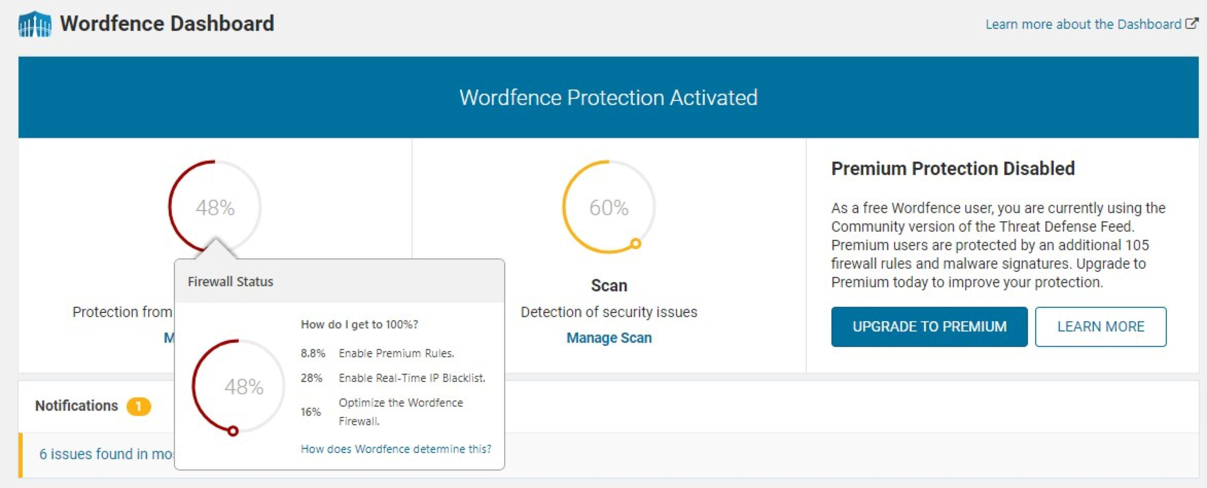Additional steps to take popup
