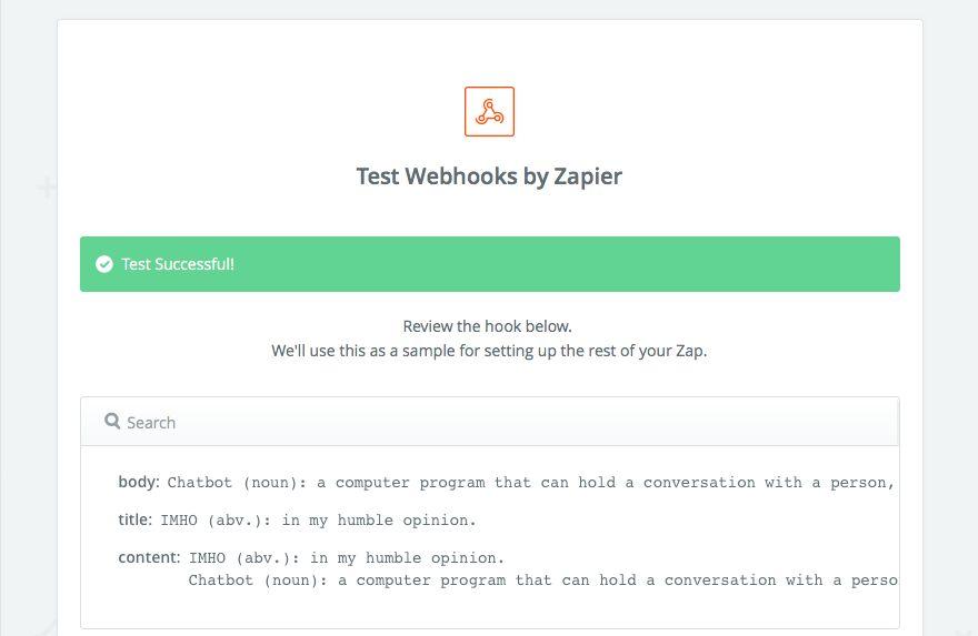 Drafts text in Zapier