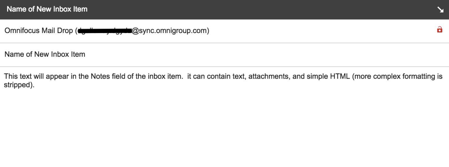 OmniFocus email