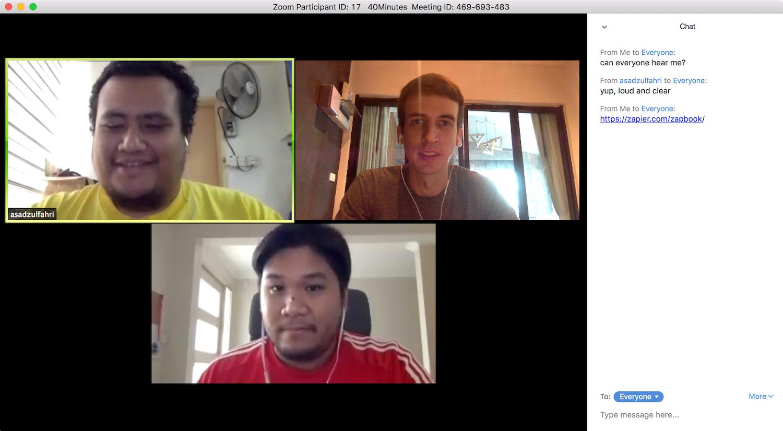 Video chat app for desktop