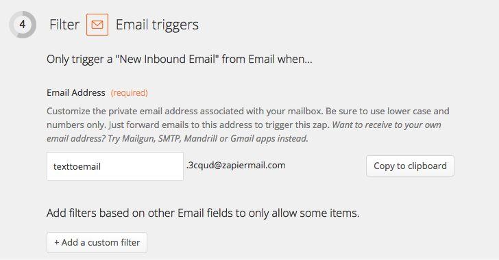 Zapier email Zap