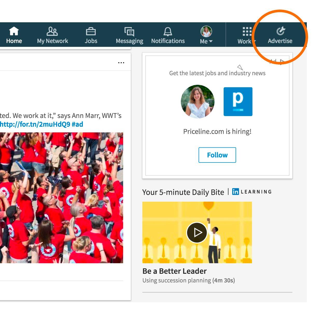 LinkedIn Advertise