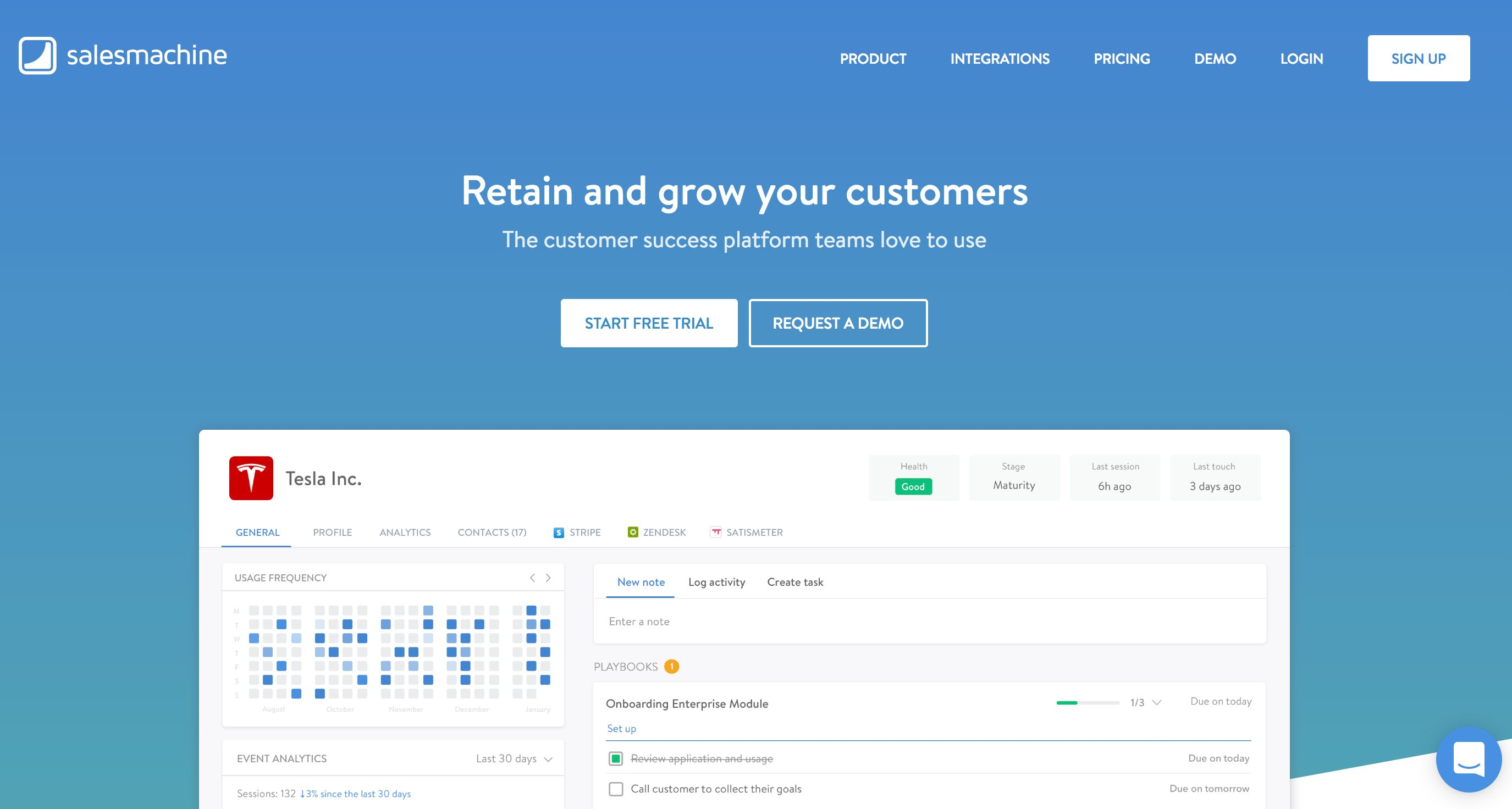 Salesmachine home page