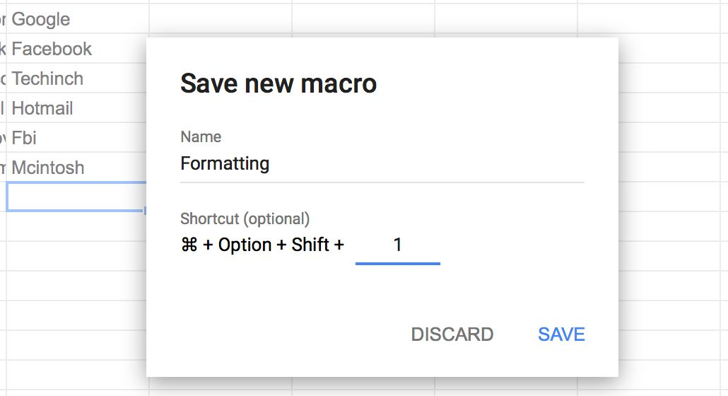 Save Google Sheets Macro