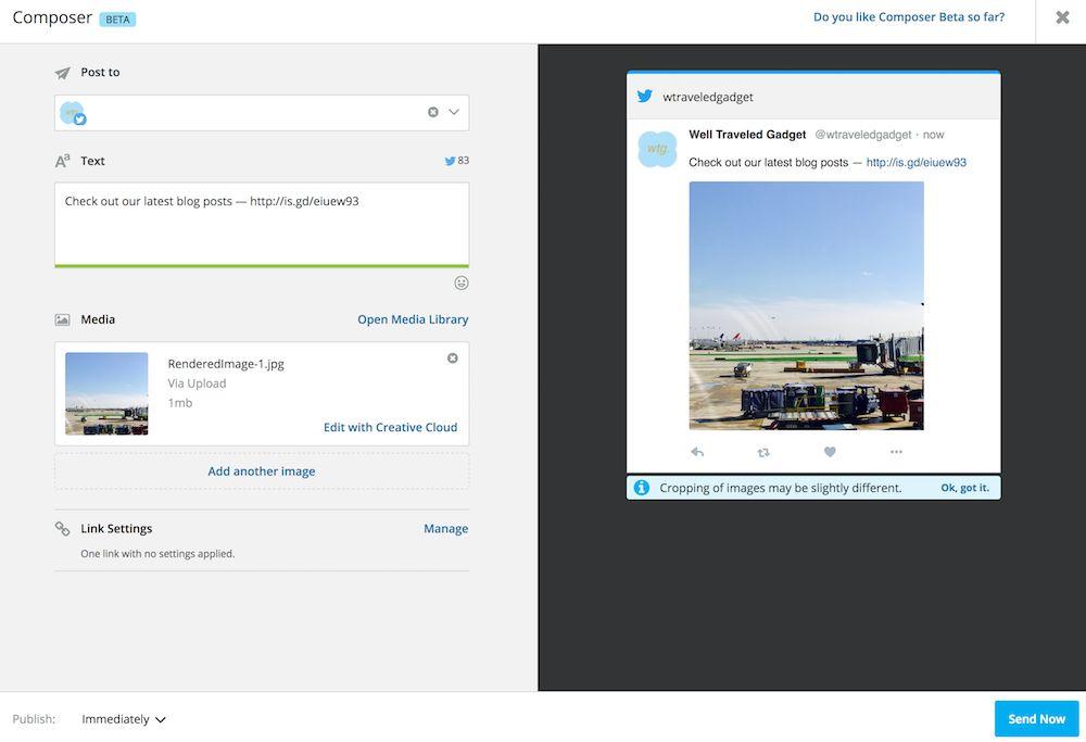 Schedule Tweets with Hootsuite