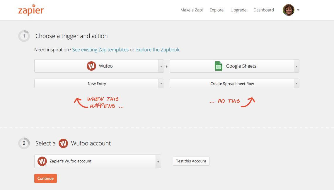 Wufoo Google Sheets integration