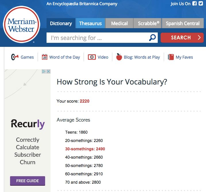 How Strong Is Your Vocabulary