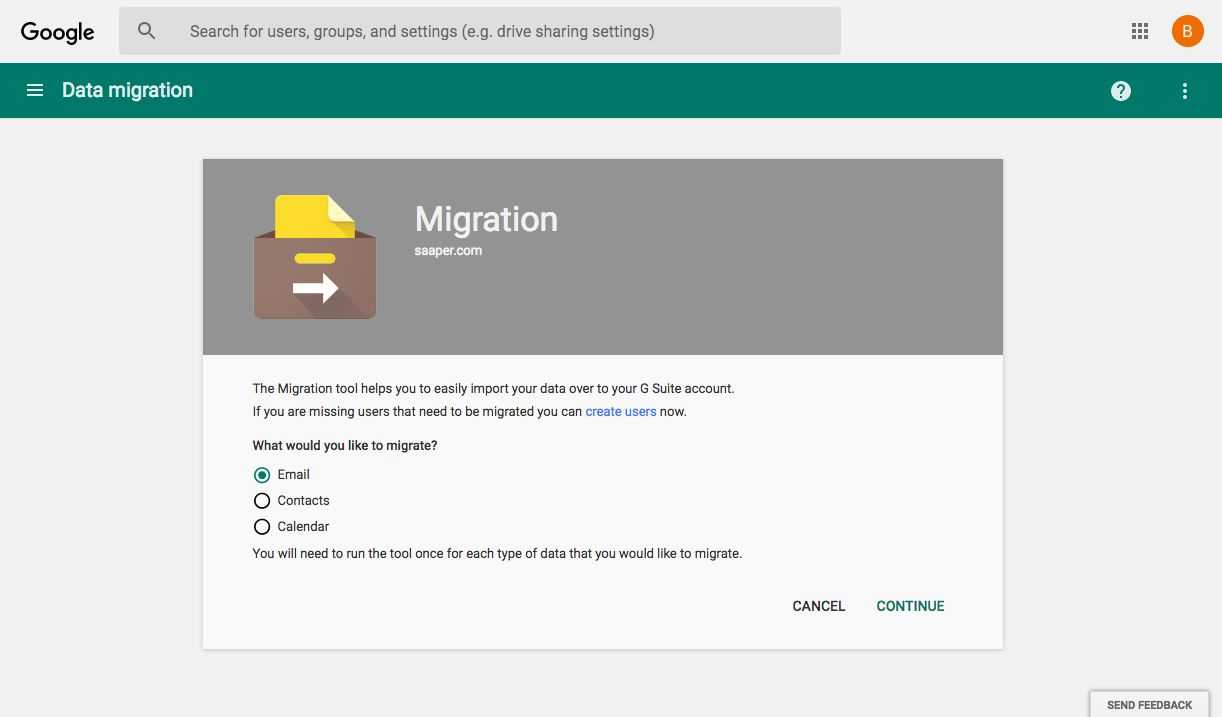 G Suite Data Migration Tool