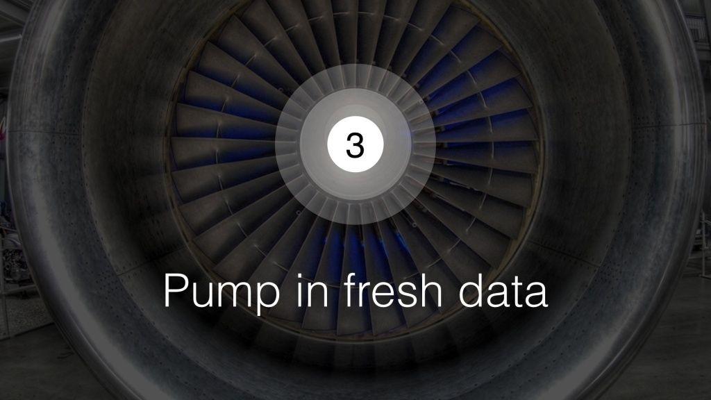 Pump in Fresh Data slide