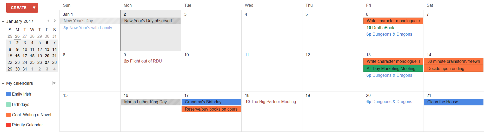 making calendar in word