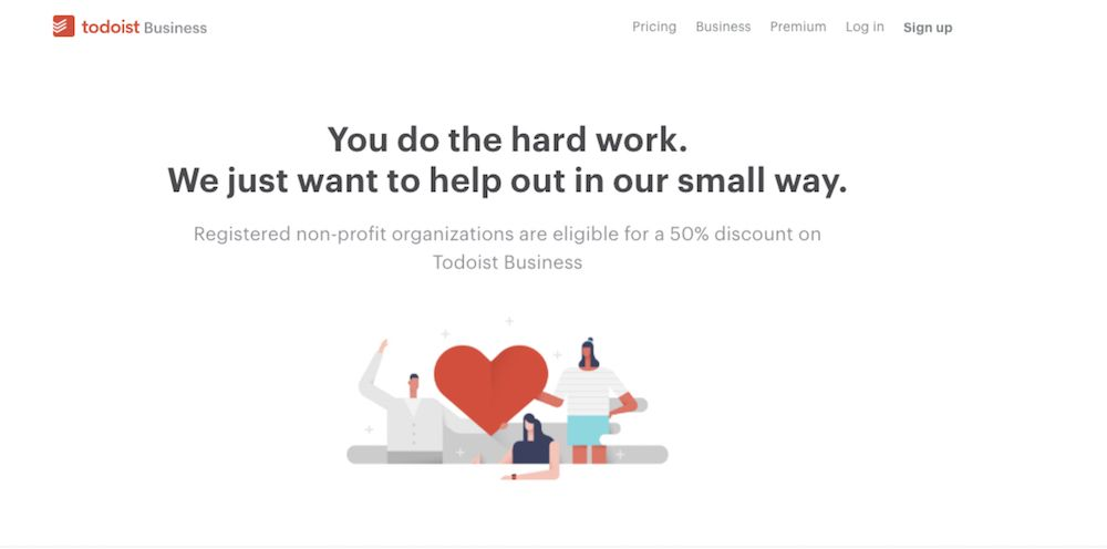 Todoist discount for nonprofit organizations