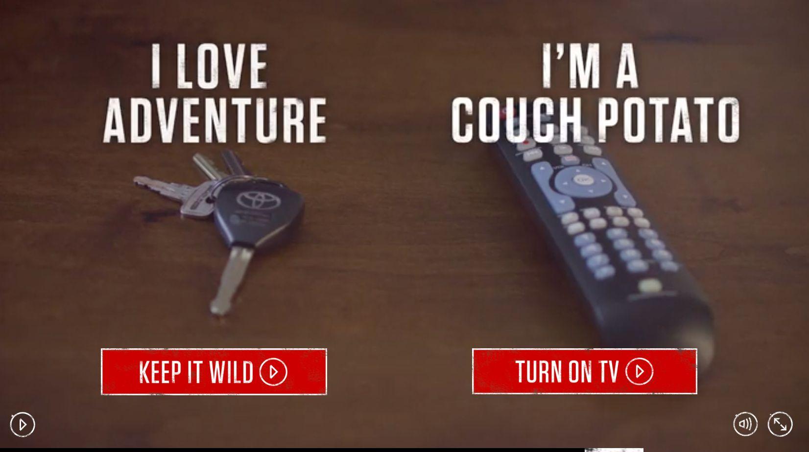 Toyota interactive video screenshot