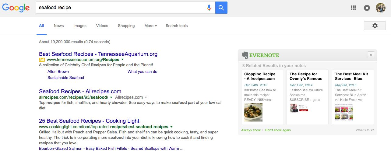 Evernote in Google