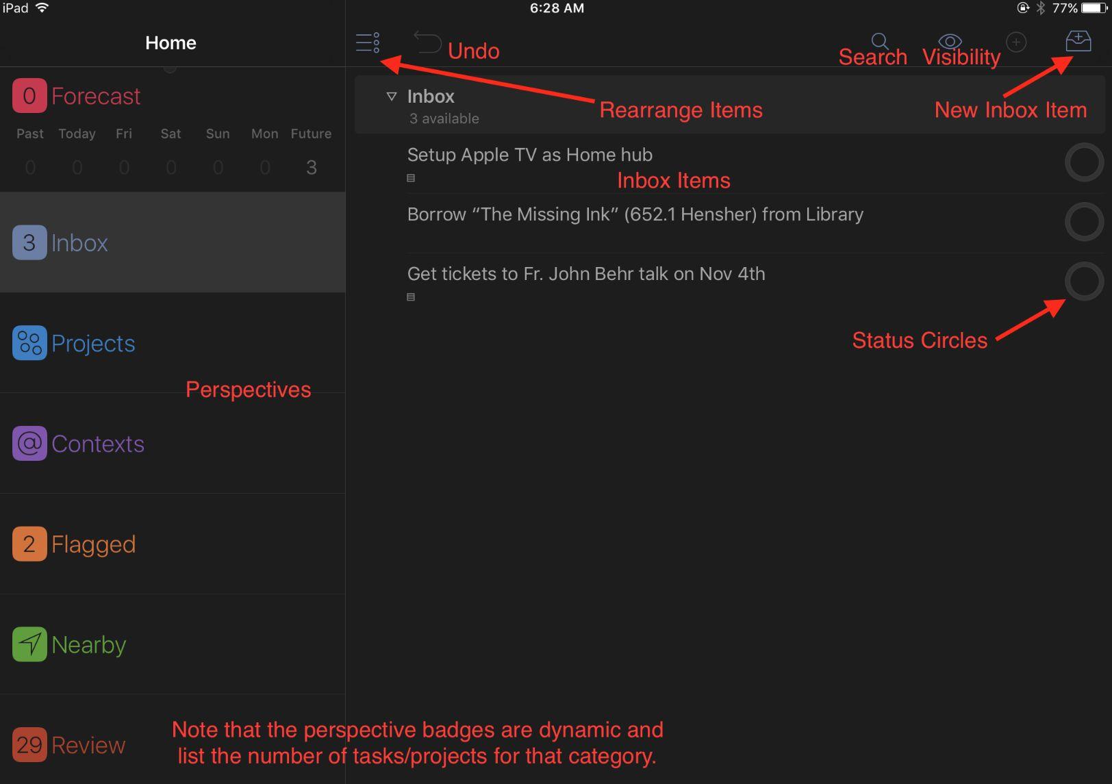 OmniFocus iPad