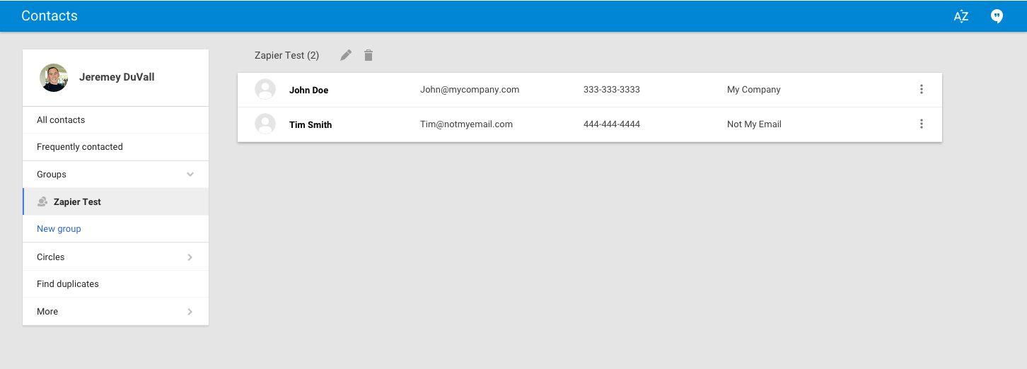 new google contact