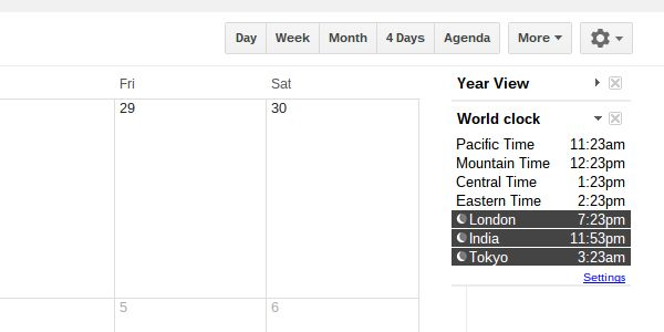 google calendar international timezones
