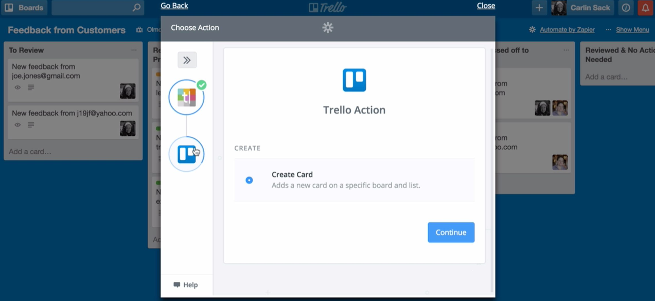 Create a Trello Zap