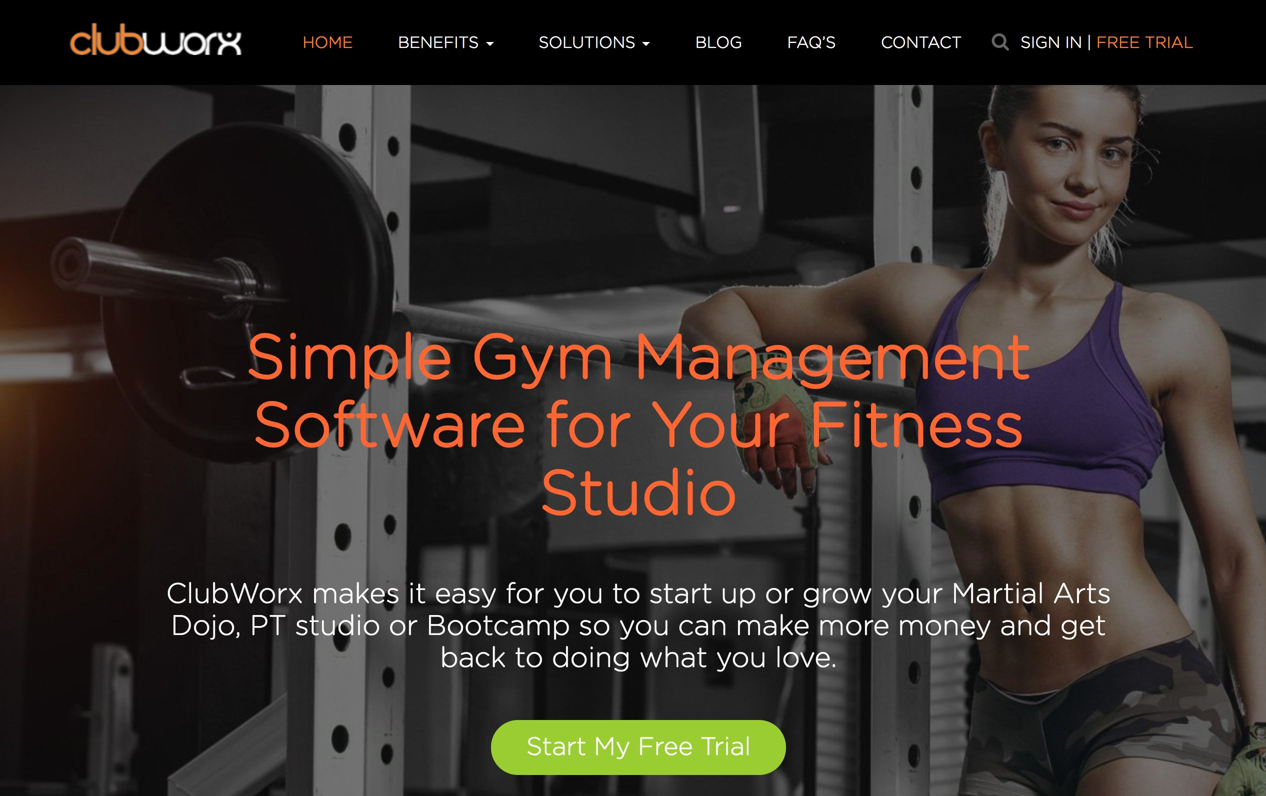 Clubworx home page