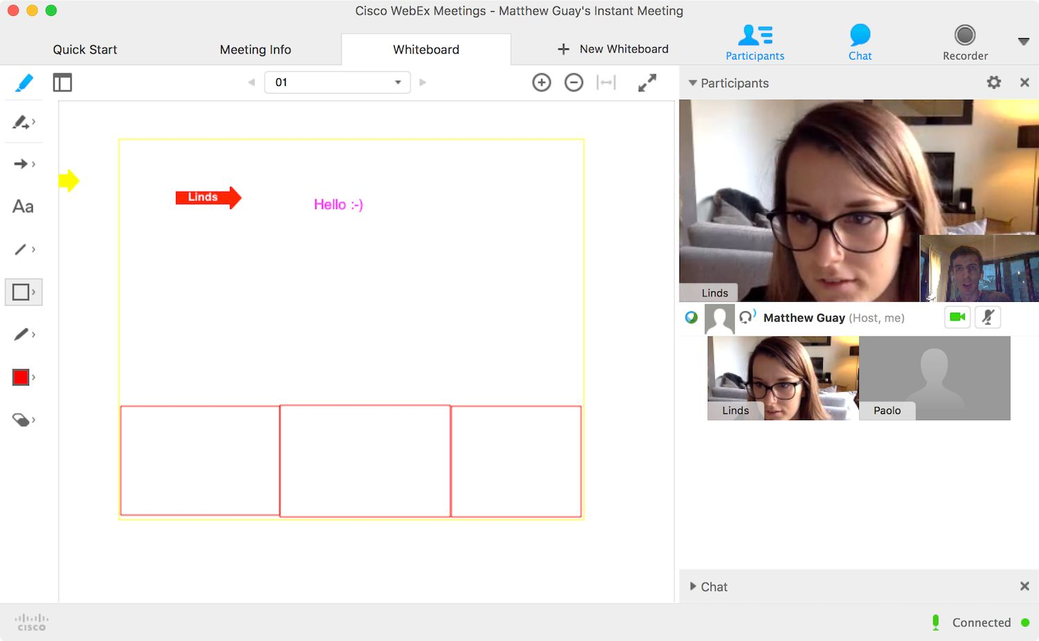 Cisco WebEx screenshot