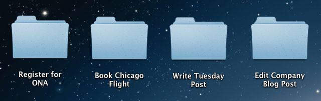 tasks in folders