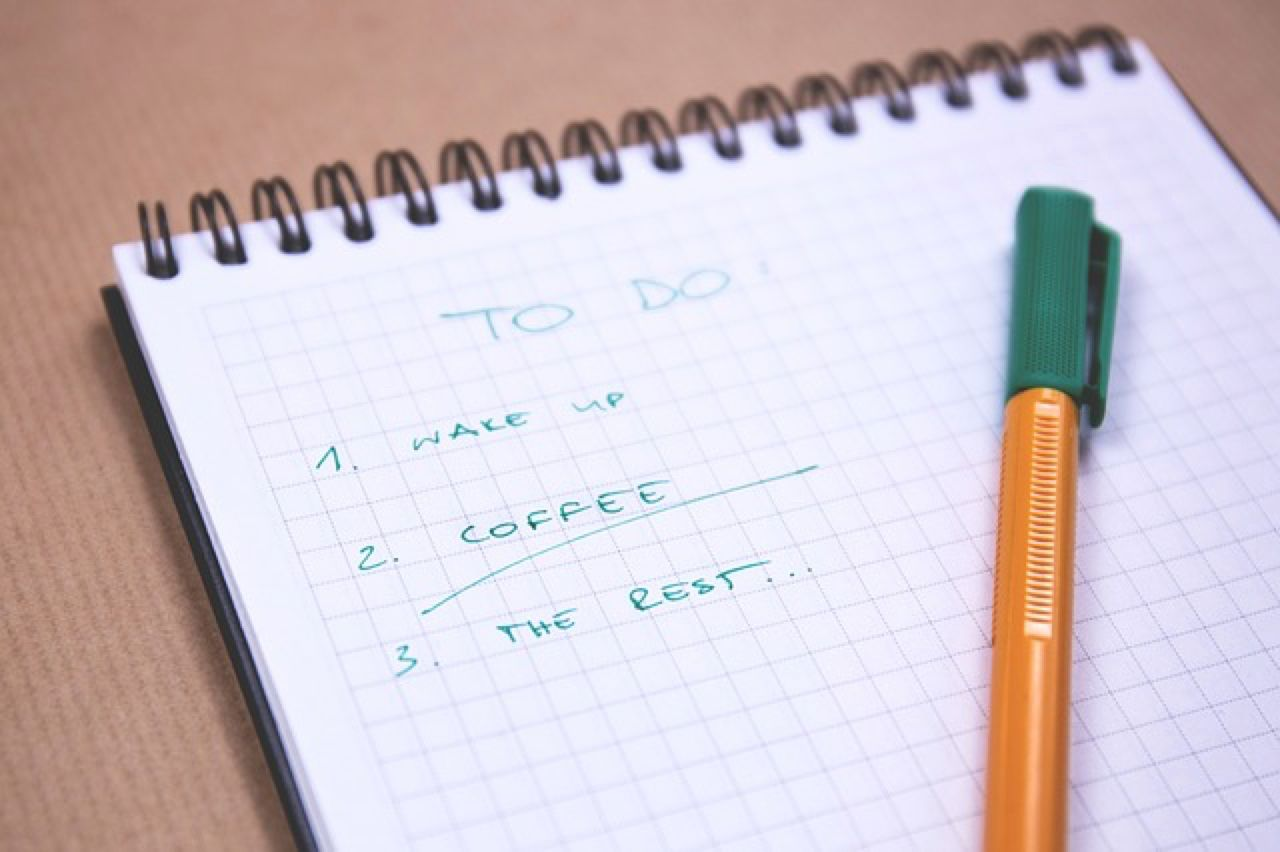 notepad to-do list