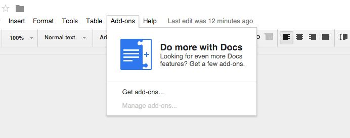 google docs add ons