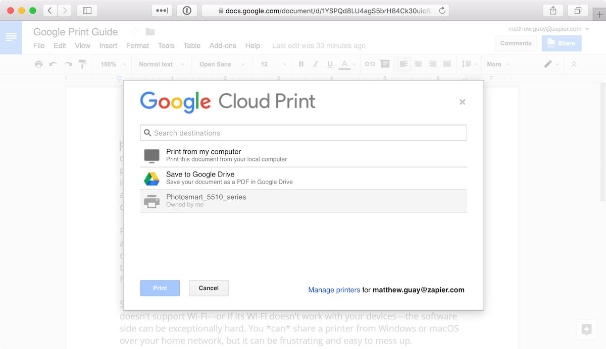 Google Cloud Print Integrations | Connect Your Apps with Zapier