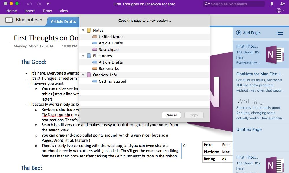 Use OneNote Templates to Streamline Meeting, Class, Project