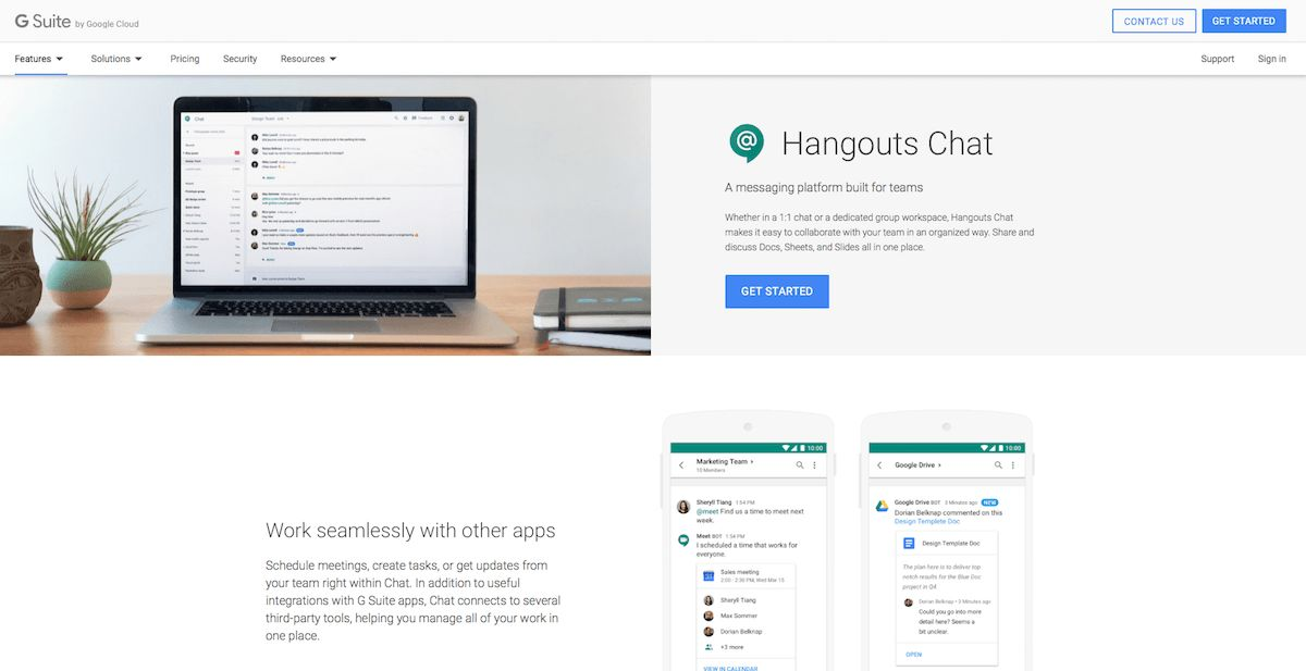 Google Hangouts Chat - Features, Pricing, Alternatives, and More