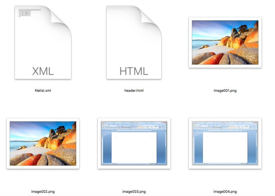 Microsoft Word images
