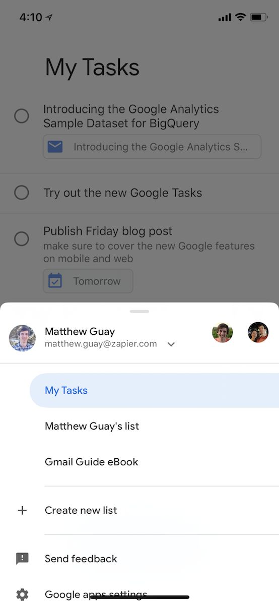 Google Tasks for iOS