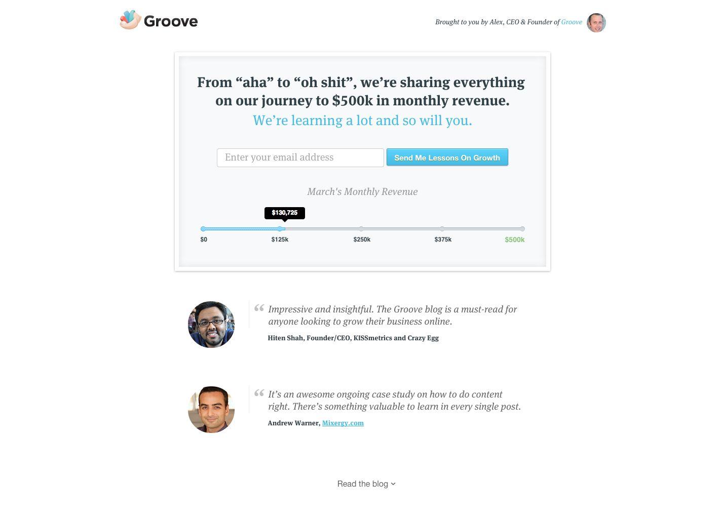 Groove blog