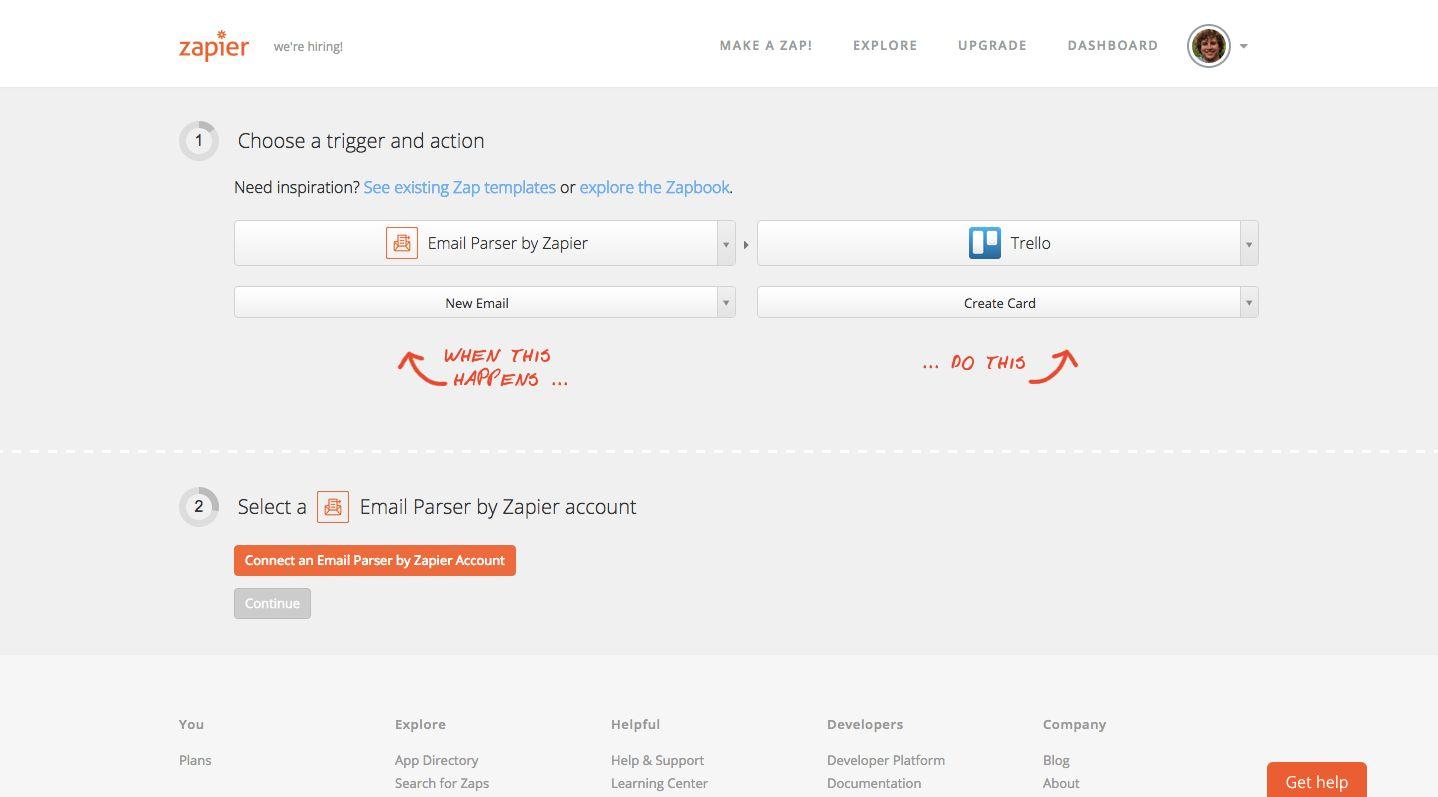 Email Parser Trello example