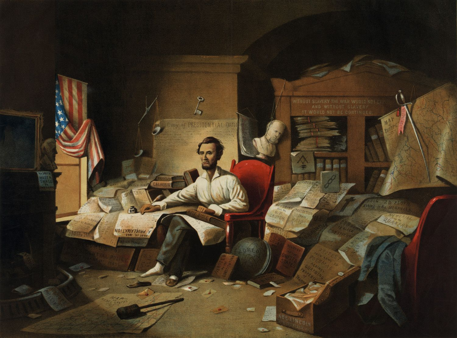 Lincoln writing