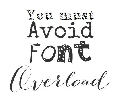 avoid font insanity