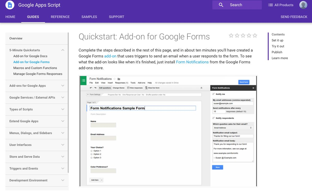 Google Add-ons Guide