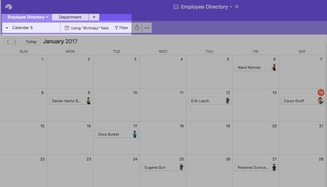 Airtable Calendar View