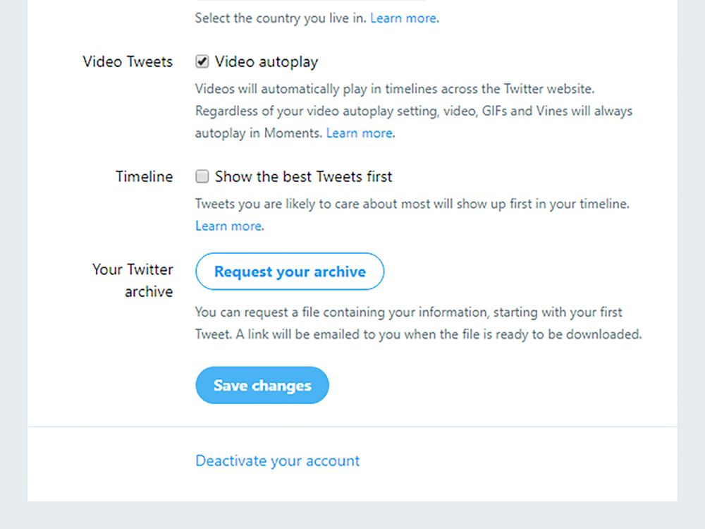 Download all your Twitter data