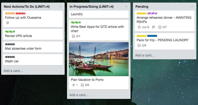 Add images to Trello for GTD