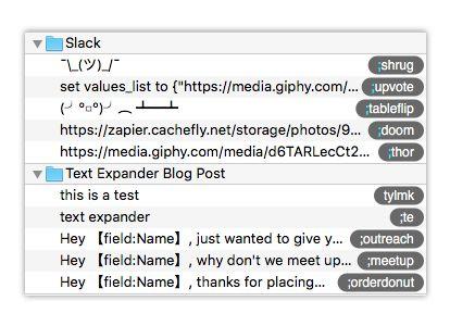 abbreviations in textexpander