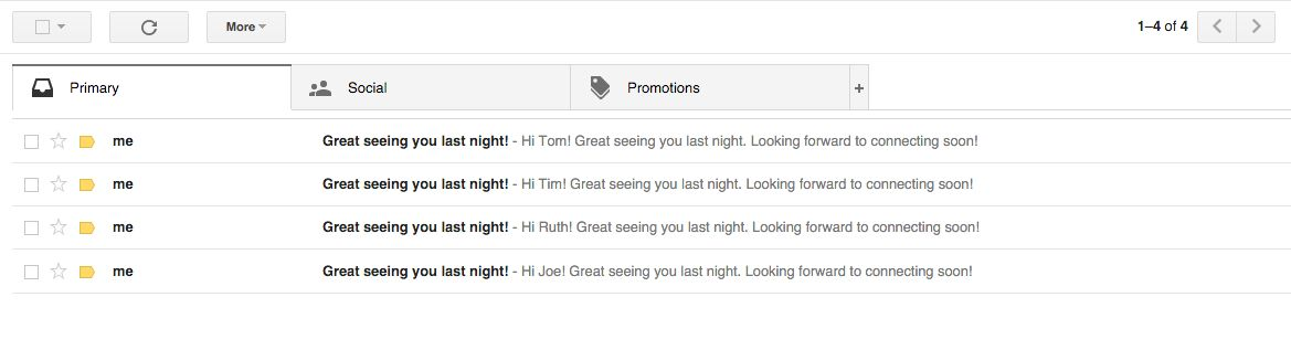 gmail message great to see you